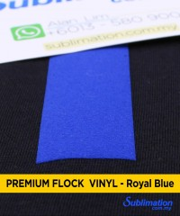 Royal Blue Flock Vinyl