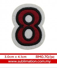 008 Embroidery Sticker